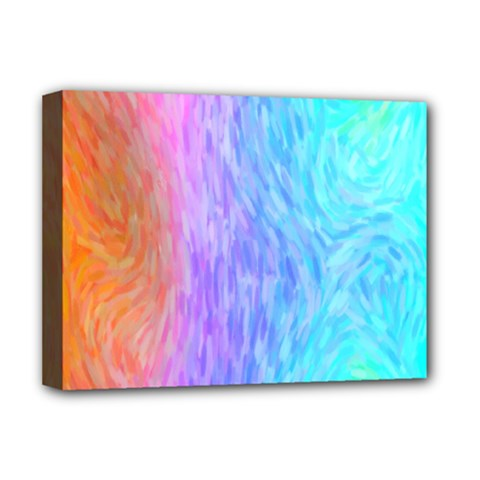 Abstract Color Pattern Textures Colouring Deluxe Canvas 16  X 12