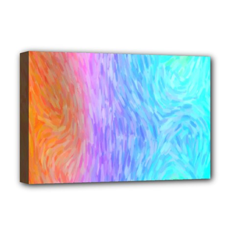 Abstract Color Pattern Textures Colouring Deluxe Canvas 18  X 12