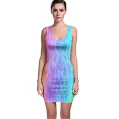 Abstract Color Pattern Textures Colouring Sleeveless Bodycon Dress