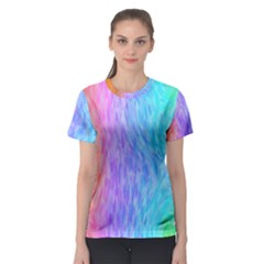 Abstract Color Pattern Textures Colouring Women s Sport Mesh Tee