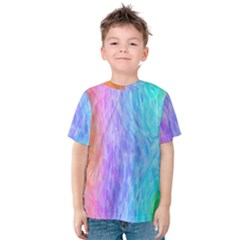 Abstract Color Pattern Textures Colouring Kids  Cotton Tee