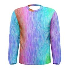 Abstract Color Pattern Textures Colouring Men s Long Sleeve Tee
