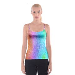 Abstract Color Pattern Textures Colouring Spaghetti Strap Top