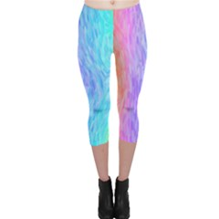 Abstract Color Pattern Textures Colouring Capri Leggings