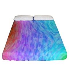 Abstract Color Pattern Textures Colouring Fitted Sheet (queen Size)