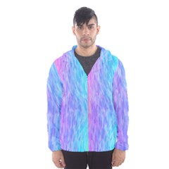 Abstract Color Pattern Textures Colouring Hooded Wind Breaker (men)