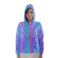 Abstract Color Pattern Textures Colouring Hooded Wind Breaker (women)
