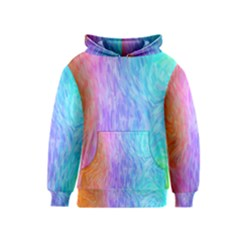 Abstract Color Pattern Textures Colouring Kids  Pullover Hoodie