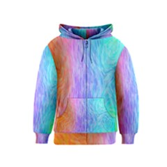 Abstract Color Pattern Textures Colouring Kids  Zipper Hoodie