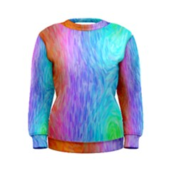 Abstract Color Pattern Textures Colouring Women s Sweatshirt