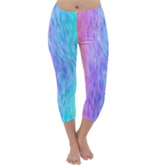 Abstract Color Pattern Textures Colouring Capri Winter Leggings