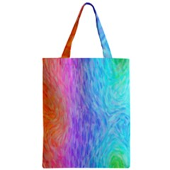 Abstract Color Pattern Textures Colouring Zipper Classic Tote Bag