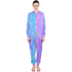 Abstract Color Pattern Textures Colouring Hooded Jumpsuit (ladies)