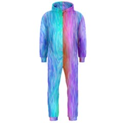 Abstract Color Pattern Textures Colouring Hooded Jumpsuit (men)