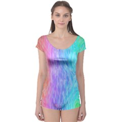 Abstract Color Pattern Textures Colouring Boyleg Leotard