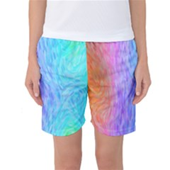 Abstract Color Pattern Textures Colouring Women s Basketball Shorts