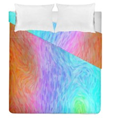 Abstract Color Pattern Textures Colouring Duvet Cover Double Side (queen Size)