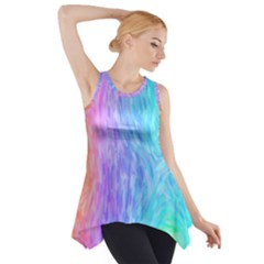 Abstract Color Pattern Textures Colouring Side Drop Tank Tunic