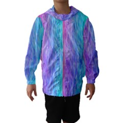 Abstract Color Pattern Textures Colouring Hooded Wind Breaker (Kids)