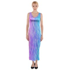 Abstract Color Pattern Textures Colouring Fitted Maxi Dress