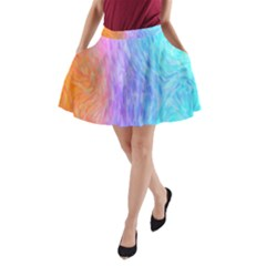 Abstract Color Pattern Textures Colouring A-Line Pocket Skirt