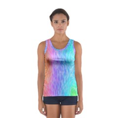 Abstract Color Pattern Textures Colouring Women s Sport Tank Top