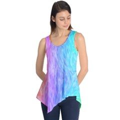 Abstract Color Pattern Textures Colouring Sleeveless Tunic