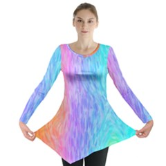 Abstract Color Pattern Textures Colouring Long Sleeve Tunic