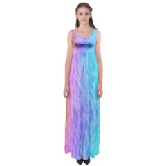 Abstract Color Pattern Textures Colouring Empire Waist Maxi Dress