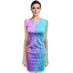 Abstract Color Pattern Textures Colouring Classic Sleeveless Midi Dress