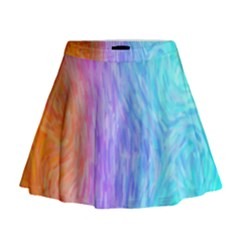 Abstract Color Pattern Textures Colouring Mini Flare Skirt
