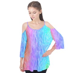Abstract Color Pattern Textures Colouring Flutter Tees