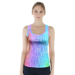 Abstract Color Pattern Textures Colouring Racer Back Sports Top
