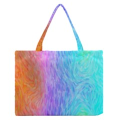 Abstract Color Pattern Textures Colouring Medium Zipper Tote Bag