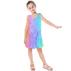 Abstract Color Pattern Textures Colouring Kids  Sleeveless Dress