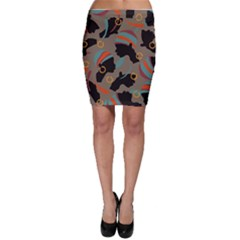 African Women Ethnic Pattern Bodycon Skirt