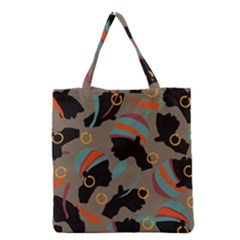 African Women Ethnic Pattern Grocery Tote Bag
