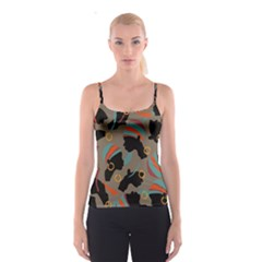 African Women Ethnic Pattern Spaghetti Strap Top