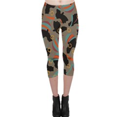 African Women Ethnic Pattern Capri Leggings