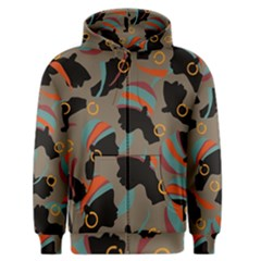 African Women Ethnic Pattern Men s Zipper Hoodie