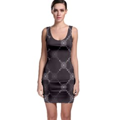 Abstract Seamless Pattern Sleeveless Bodycon Dress