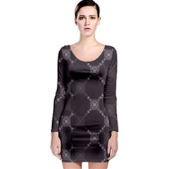 Abstract Seamless Pattern Long Sleeve Bodycon Dress