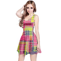 Abstract Pattern Reversible Sleeveless Dress
