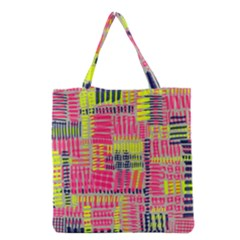 Abstract Pattern Grocery Tote Bag
