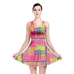 Abstract Pattern Reversible Skater Dress