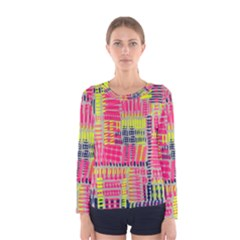 Abstract Pattern Women s Long Sleeve Tee