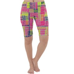 Abstract Pattern Cropped Leggings