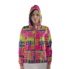 Abstract Pattern Hooded Wind Breaker (women)