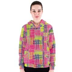 Abstract Pattern Women s Zipper Hoodie