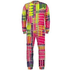 Abstract Pattern OnePiece Jumpsuit (Men)